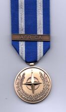 **NEW**  NATO MEDAL WITH CLASP:  AFRICA  FULL-SIZE  MEDAL