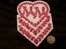 Girls METAL MULISHA Pink and White Roses Heart Sticker Car Window Decal Vinyl