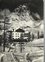 1952 cartolina di cervinia breuil albergo cervinia e monte cervino
