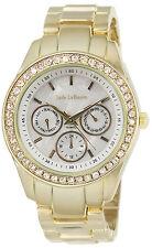 Ladies Gold Bracelet Boyfriend Crystal Watch Chunky Oversized Reloj de Mujer