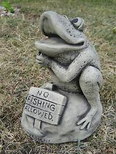 De no pesca rana de piedra Ornamento del jardín & Lt & ltvisit Mi tienda & gt & gt