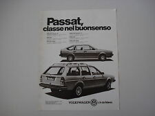 advertising Pubblicità 1982 VOLKSWAGEN PASSAT BERLINA/FAMILCAR