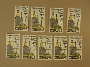 USPS Scott 2362-66 22c Steam Locomotives 9 Books 180 Stamps Mint Booklet 1987