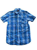 Quiksilver Men's Quicksilver Casual Checked Surf Wear Shirt Large