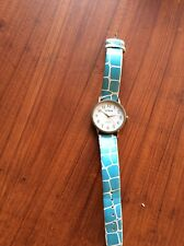 Watch Citroen Blue Strap With Large Attractive Watch Face, Gold Hands, Working