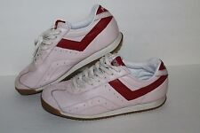 Pony Japan '82 Low Casual Sneakers, #S5-11-CT, Pale Pink/Red, Women's US 11