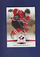 Jonathan Drouin 2014-15 UD Hockey Team Canada Juniors Gold Parallel #47