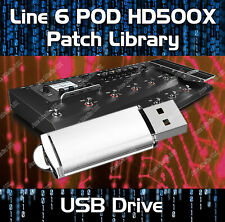 LINE 6 POD HD500X PRE-PROGRAMMED TONE PATCHES USB 4400+ GUITAR EFFECTS