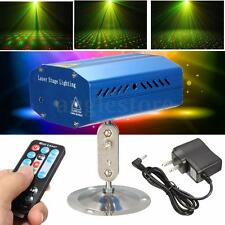 Mini R&G Auto/Voice Xmas DJ Disco Party LED Laser Stage Light Projector +Remote