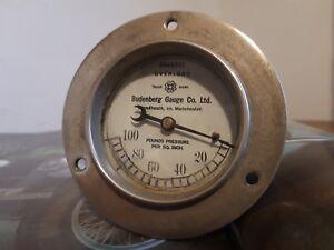 Vintage Budenberg Gauge oil pressure gauge  rolls royce riley bentley vauxhall