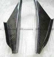 For Mitsubishi Evolution EVO 8 Carbon Fiber JDM 2Pcs Front Bumper Canards kits