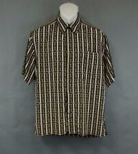 Massoti Men's shirt Top button Down Short Sleeve Size M Italy Rope Knot Nautica