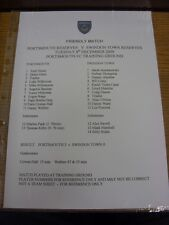 08/12/2009 Portsmouth riserve V Swindon Town riserve Friendly [] [prodotte dopo