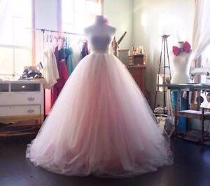UK Pink/White/ivory Multiple Colours Puffy Tulle Wedding Skirt Prom Size 6-20