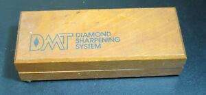 Vintage DMT Diamond Sharpening System Red Sharpening Stone In Wood Box
