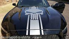 Punisher Vinyl Skull Hood Vinyl Decal Mustang Charger Challenger Camaro Avenger