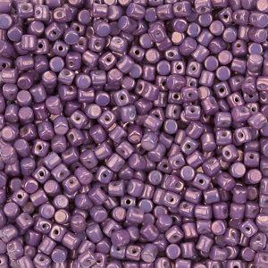 Minos® par Puca® Opaque Mix Amethyst Gold Ceramic Look Czech Glass Beads (L99/6)