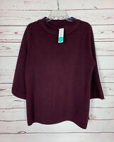 Fortune Ivy Stitch Fix Women's M Medium Purple Mock Neck Sweater NEW With TAGS