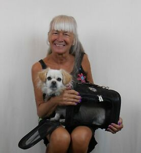 ON BOARD AIRLINE TRAVEL PET CARRIER HEARTS  AIRLINE Dog CARRIER Cat CARRIER