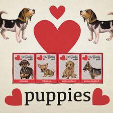 Gambia 2012 - Puppies - Sheet of 4 MNH