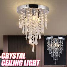 Chrom Kristall Hängelampe Kronleuchter Deckenlampe Lüster Leuchte Pendelleuchte