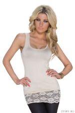 Camisas y tops de mujer de color principal beige sin mangas talla 38