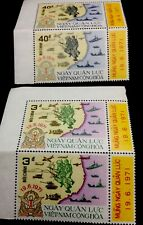 1971 South Vietnam Stamps Military & Naval Operations Sc # 394 - 95  MNH. 2 Sets