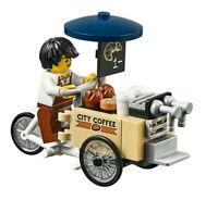 LEGO City Coffee Cargo Bike & Barista Minifigure Train Scenery 60197 60198 NEW