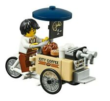 LEGO City Coffee Bike & Barista Minifigure Train Town Scenery 60197 60198 NEW
