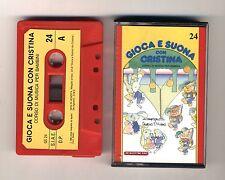 GIOCA E SUONA CON CRISTINA D'AVENA Musicassetta 24 OTTIMO Mc Audiocassetta 1989