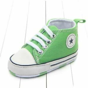 1 Pair Canvas Classic Sports Sneakers Newborn Baby Boys Girls First Walkers Shoe