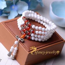Natural white tridacna 6 mm108 beads prayer beads malas bracelet