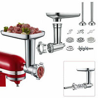 Metal Meat Grinder Mincer Sausage Stuffer Attachment For KitchenAid Stand Mixers