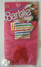 New Barbie Fashion Collectible ~ Vintage 1988 ~ Red Shorts+Top w/Shoes Outfit