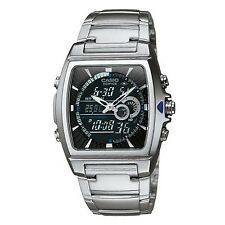 Casio Men's EFA120D-1AV Edifice Analog-Digital Square Dial Stainless Steel Watch