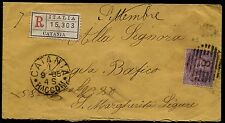 1885 - Raccomandata resa franca con cent.50 Umberto - Sassone n.42