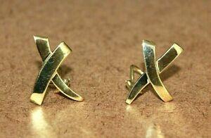 Tiffany & Co. 18k Yellow Gold Paloma Picasso Large Graffiti X Earrings [051WEI]