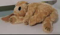 LOVELY CUTE SLEEPING PUPPY DOG PLUSH TOY! SOFT TOY ABOUT 24CM LONG KIDS TOY!
