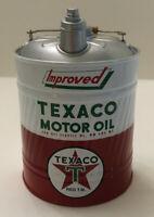 TEXACO Advertising Coin Bank Vintage Improved Texaco Motor Oil — New in Box