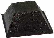 10x pieds patins carrés en caoutchouc H:6mm 12.7x12.7mm pour meubles Autoadhésif