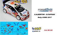 DECAL  1/43 -  FORD FIESTA WRC -  ALBERTINI   - Rally COMO 2017