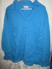 TURQUOISE BUTTON DOWN SHIRT FROM AVENUE-LADIES SIZE 30/32