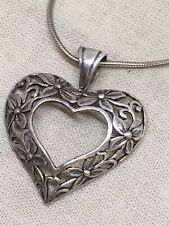 Fikigree Heart Necklace 8.5g 5-26 Jez Vtg 18� Sterling Silver