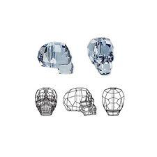 Swarovski Crystal Beads Faceted Skull 5750 Denim Blue 14x13x10mm
