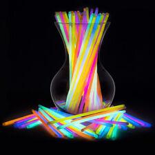 100PCS Glow Sticks Bracelets Necklaces Fluorescent Light Sticks Party Magic Prop