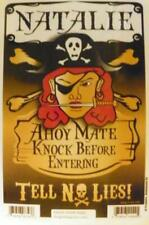NATALIE Pirate Privacy Door Sign/Ahoy Mate/Knock Before Entering/Tell No Lies!