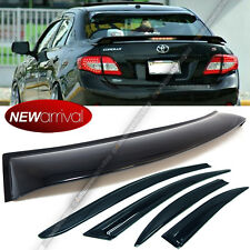 For: 09-13 Toyota Corolla 4 Pics Window & Rear Window Roof Visor Spoiler Combo