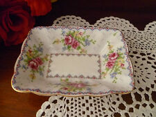 VINTAGE ROYAL ALBERT PETIT POINT CANDY DISH MADE IN ENGLAND
