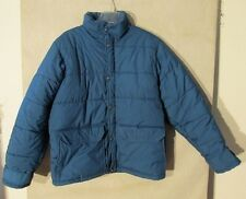 V7075 The North Face Large Blue Puffy Poly-Fill Winter Jacket Made in USA