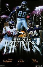 2001 Minnesota Vikings Collage Carter Moss & Culpepper Original Starline Poster
